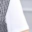 Set 2 ชิ้น เสื้อแขนสั้นสีขาว + เอี้ยมกระโปรงลายสก็อตโทนสีดำ thumbnail 6