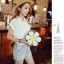 [ Pre-Order ] - กระเป๋าแฟชั่น กระเป๋าสะพาย นำเข้าสไตล์เกาหลี ทรงรูปดอกไม้สีขาว ดีไซน์สวยเก๋น่ารัก โดดเด่นแปลกสวยไม่เหมือนใคร สาวๆชอบงานโดดเด่น ห้ามพลาด thumbnail 7