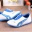 รองเท้ากีฬาเด็ก ทรงเท่ สีฟ้าขาว Size 26-30 thumbnail 8