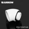 ข้องอ 45 Barrow Female / Male สีขาว