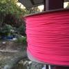 สายถัก 4 mm กลม สีชมพู