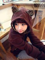 เสื้อกันหนาวหูแมวลายเสือ