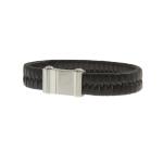 สร้อยข้อมือลิเวอร์พูล ของแท้ 100% Liverpool FC Black Leather Stainless Steel Bracelet