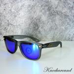 แว่นกันแดด Knockaround รุ่น Fort Knock Frosted Grey Moonshine Polarized กรอบเทา // เลนส์สีปรอทน้ำเงิน