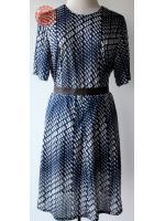 D1:Vintage dress เดรสวินเทจลายกราฟฟิคย้อนยุค
