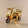 ของขวัญวันปีใหม่ รถตุ๊กตุ๊กจำลอง สีทองตัดทองแดง Size M