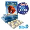 Pet Worm Plus สำหรับสัตว์ 20-40 กิโลกรัม (พิเศษ!!สั่งซื้อ10กล่องในราคา 1,000บาท)