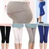 กางเกงเลคกิ้งผ้ายืดสำหรับคนท้อง ขาสามส่วนปลายขารูด เนื้อผ้านิ่มใส่สบาย ไม่บาง