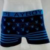กางเกงในชาย PLAYBOY Boxer Briefs : สีดำ ลายฟ้า