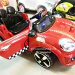LN5626R รถแบตเตอรี่เด็กนั่ง ยี่ห้อมินิคูเปอร์(ฝากระโปรงมีไฟ) มี 5 สี แดง เหลือง เขียว ชมพู ขาว