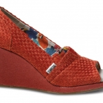 รองเท้า TOMS Red Savannah Women's Wedges