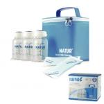 กระเป๋าเก็บความเย็น NATUR พร้อมเจลเย็น+ขวดเก็บน้ำนม 6 ขวด BPA-Free
