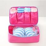 Lucky Package กระเป๋าใส่เสื้อผ้า ชุดชั้นใน สีชมพู