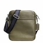 พร้อมส่ง กระเป๋าผู้ชาย COACH รุ่น FLIGHT BAG IN SMOOTH LEATHERHT BAG F71723 : เขียว