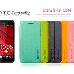 พรีออเดอร์เคส HTC butterfly สีพื้นฝาพับสุดหรู Meiningen HTC Butterlfy butterfly holster HTC X920d protective shell shell phone sets international version