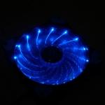 พัดลม12cm led15ดวง สีน้ำเงิน