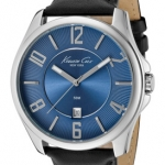 นาฬิกา Kenneth Cole Men's Blue Dial Black Leather  Style: KC1569BL