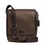 กระเป๋าผู้ชาย COACH HERITAGE CHECK MAP BAG SILVER/ESPRESSO F71430
