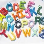 ของเล่นไม้ ตัวอักษรแม่เหล็กแฟนซี A-Z