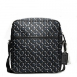 กระเป๋าผู้ชาย COACH CROSBY OP ART SHADOW LARGE FLIGHT BAG F70638