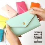 Crown Smart Pouch K กระเป๋าใส่โทรศัพท์ สีน้ำตาล
