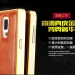 Luxury Leather Metal Aluminum Bumper Frame For Samsung Galaxy NOTE 3