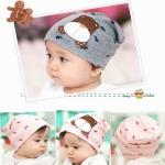 หมวกเด็กอ่อนเกาหลี รูปหมี สำหรับเด็กวัย 3 - 36 เดือน
