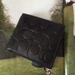 กระเป๋าสตางค์ผู้ชาย COACH COMPACT ID SIGNAURE LEATHER F74992 : BLACK