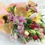 ช่อดอกไม้ สไตล์ญี่ปุ่น สดใส