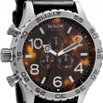 นาฬิกา Nixon 51-30 Chrono Leather Watch in Black / Tortoise