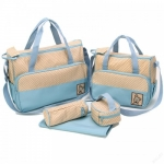 กระเป๋าเด็กอ่อน ใส่สัมภาระลูก Set 5 ชิ้น สีฟ้า