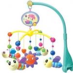 ชุดโมบายของเล่น ติดเปลเด็ก ใส่ถ่าน ปรับเสียงเบาดังได้