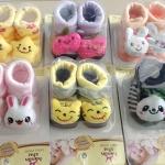 ถุงเท้าเด็กอ่อนสามมิติ มีกันลื่น สำหรับเด็กทารกวัย 0-12 เดือน