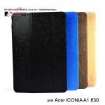 เคส Acer iconia A1 - 830 รุ่น ปกผ้าไหมหลังใส