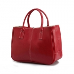 [ พร้อมส่ง ] - กระเป๋าแฟชั่น นำเข้าสไตล์เกาหลี สีแดง ดีไซน์เรียบหรู น้ำหนักเบา ช่องใส่ของเยอะ เหมาะกับทุกโอกาส