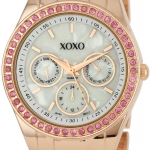 นาฬิกา XOXO Women's XO5298A Rhinestone Accent Rose Gold Bracelet Watch