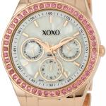 นาฬิกา XOXO Women's XO5298A Rhinestone Accent Rose Gold Bracelet Watch