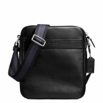 สินค้าพร้อมส่ง กระเป๋าผู้ชาย COACH รุ่น FLIGHT BAG IN SMOOTH LEATHERHT BAG F71723 : BLACK