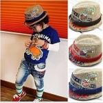 หมวกปีกเล็ก เด็กชายทรงเท่ห์ แฟชั่นสไตล์เกาหลี (ขนาด 52 ซม./วัย 2-6 ปี)