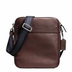 พร้อมส่ง กระเป๋าผู้ชาย COACH รุ่น FLIGHT BAG IN SMOOTH LEATHERHT BAG F71723 : MAHOGANY