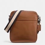 พร้อมส่ง กระเป๋าผู้ชาย COACH รุ่น FLIGHT BAG IN SMOOTH LEATHERHT BAG F54782 : SADDLE
