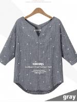(Pre-order)เสื้อผ้า cotton 100% สีเทา