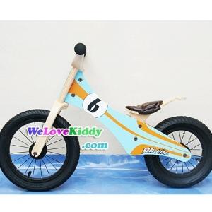รถจักรยานเด็กเล่นทรงตัว 2 ล้อ รุ่น Speedster-retroracer สีฟ้า : แบบไม้ PN004