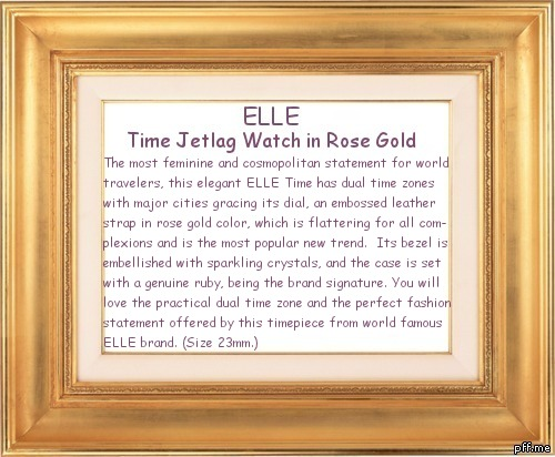 นาฬิกา ELLE Time Jetlag Watch in Rose Gold
