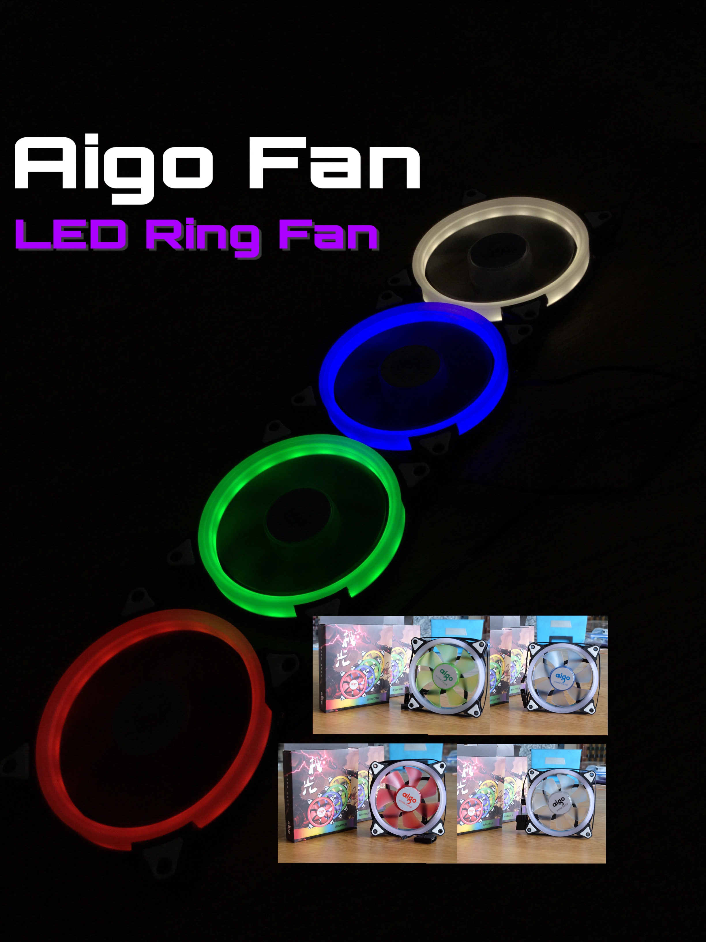 Aigo 12cm LED Ring Fan