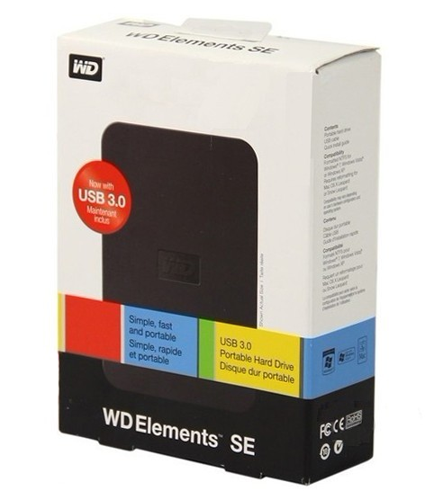 """WD Elements SE USB3.0 External HDD 2.5"""""""