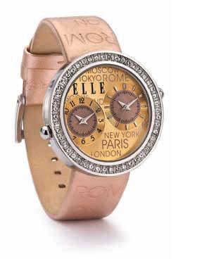 พร้อมส่ง! นาฬิกา ELLE Time Jetlag Watch in Rose Gold