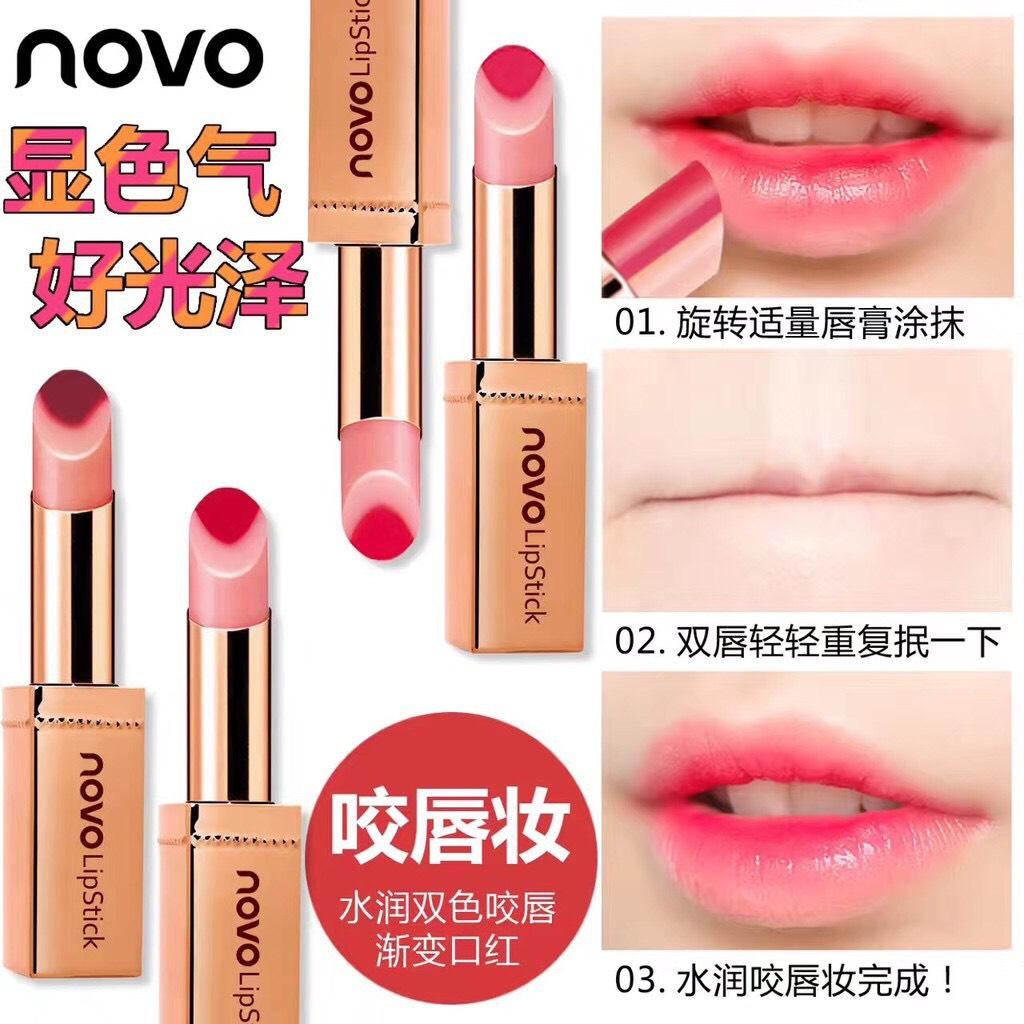 ลิปสติคแท่งทอง Color Novo ฝาครอบลิปแบบแม่เหล็ก Lip Double ตัวใหม่ 2017 Hydra