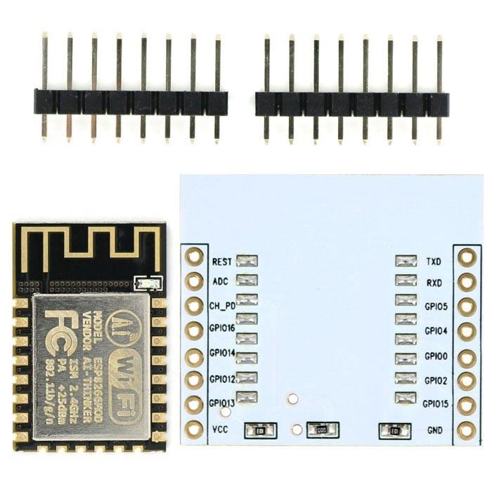 ESP8266 ESP-12F WiFi Module + Adapter Plate