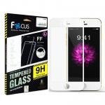 ฟิล์มกระจกนิรภัยขอบสี เต็มจอลงโค้ง !!!!! Focus For iPhone 7 สีขาว